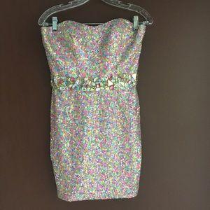 Completely Bling Confetti Mini Dress